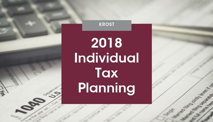 2018 Individual Tax Planning