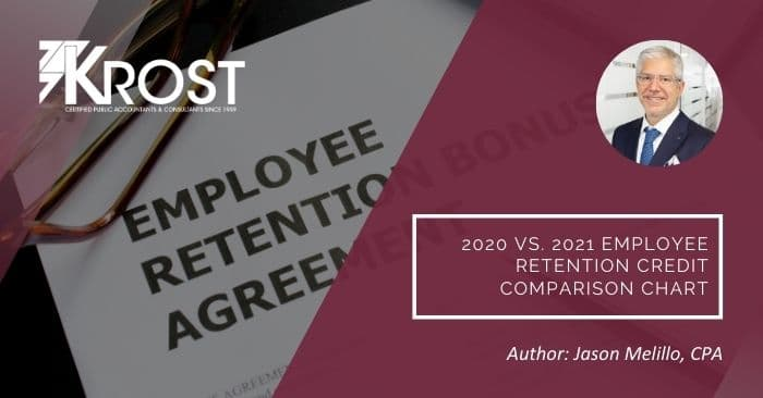 2020 vs. 2021 Employee Retention Credit Comparison Chart