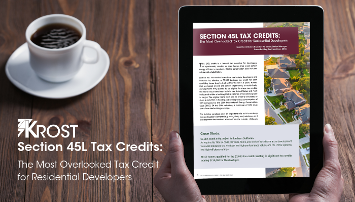 Section 45L Tax Credits: The Most Overlooked Tax Credit for Residential Developers