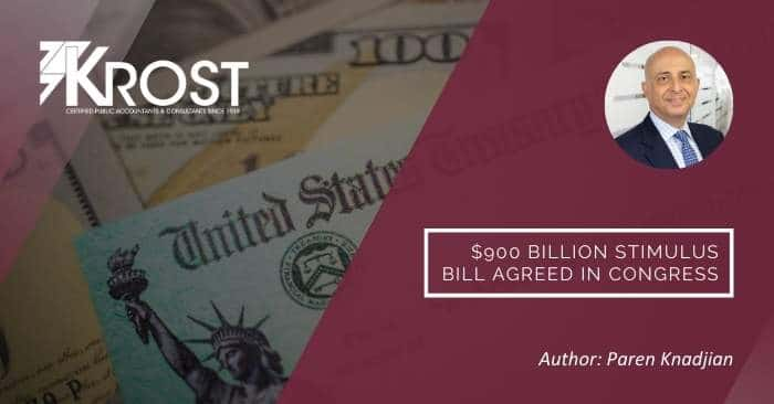 $900 Billion Stimulus Bill Agreed in Congress