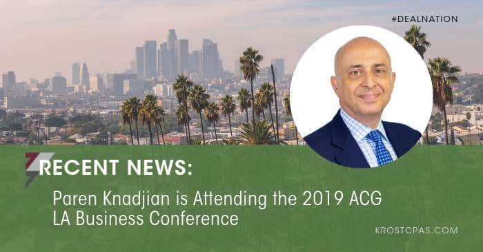 Paren Knadjian is Attending the 2019 ACG LA Business Conference