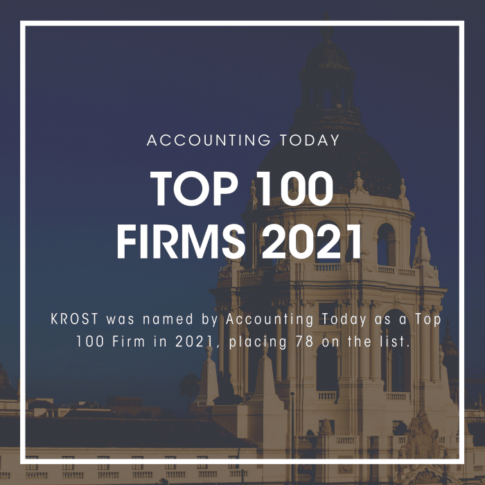 Accounting Today – Top 100 Firms 2021