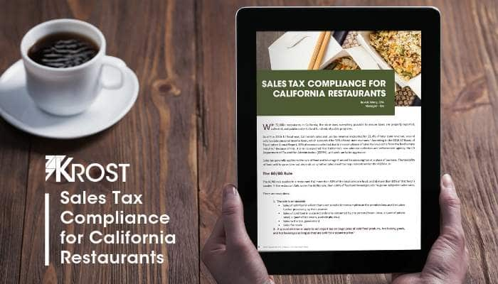 Sales Tax Compliance for California Restaurants