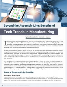 Beyond the Assembly Line: Benefits of Tech Trends in Manufacturing