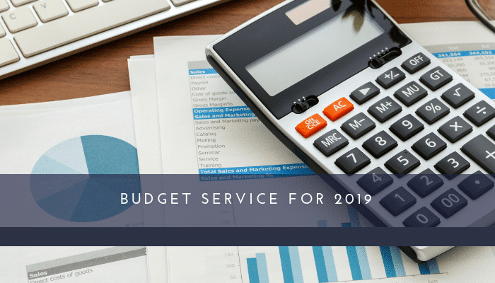 Budget Service for 2019