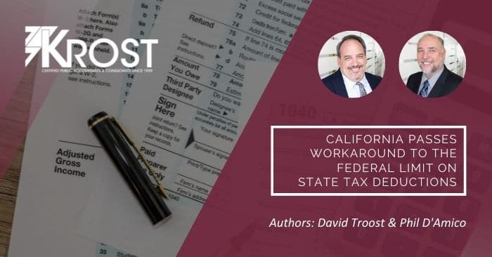 California Passes Workaround to the Federal Limit on State Tax Deductions
