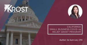 California Small Business COVID-19 Relief Grant Program | Blog