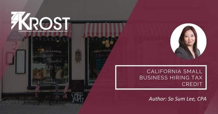 California Small Business Hiring Tax Credit