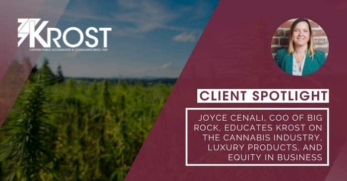 Client Spotlight: Joyce Cenali, COO of Big Rock, Educates KROST on the Cannabis Industry, Luxury Products, and Equity in Business