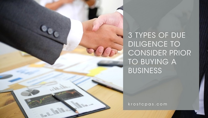3 Types of Due Diligence to Consider Prior to Buying a Business