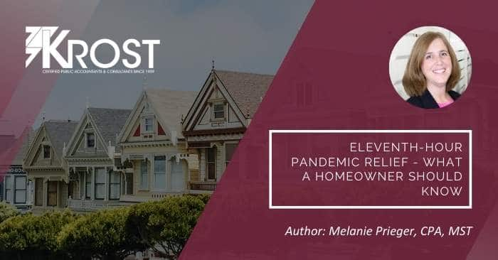 Eleventh-Hour Pandemic Relief – What a Homeowner Should Know