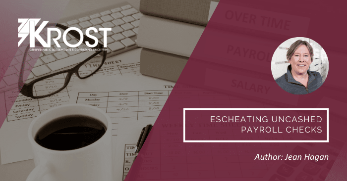 Escheating Uncashed Payroll Checks