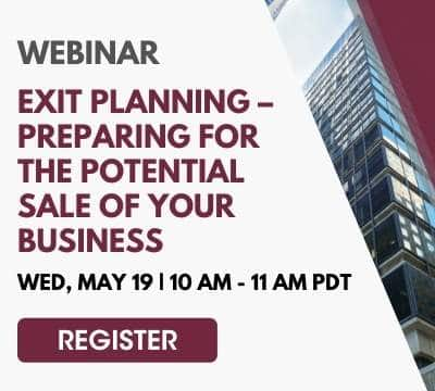 Register Exit Planning – Preparing For The Potential Sale of Your Business