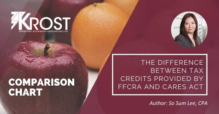 The Difference Between Tax Credits Provided by FFCRA and CARES Act