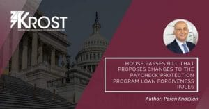 House Passes Bill That Proposes Changes to the Paycheck Protection Program Loan Forgiveness Rules | Blog