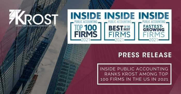 INSIDE Public Accounting Ranks KROST Among Top 100 Firms in the US in 2021