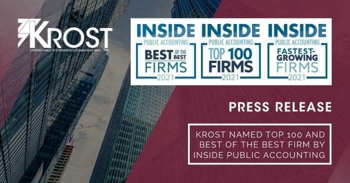 KROST Named Top 100 and Best of the Best Firm by INSIDE Public Accounting