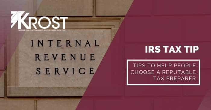 Tips to Help People Choose a Reputable Tax Preparer