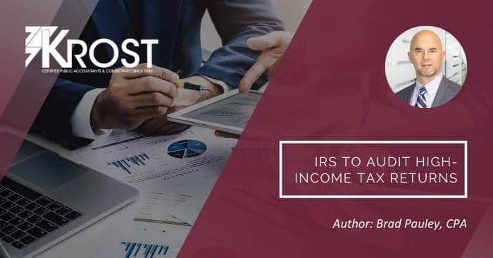 IRS to Audit High-Income Tax Returns