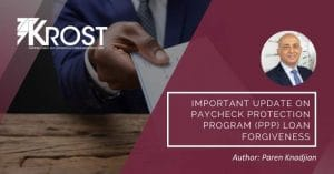 Blog | Important Update on Paycheck Protection Program (PPP) Loan Forgiveness