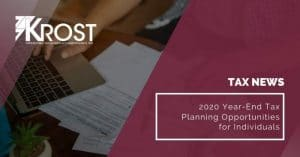 2020 Year-End Tax Planning Opportunities for Individuals | Blog