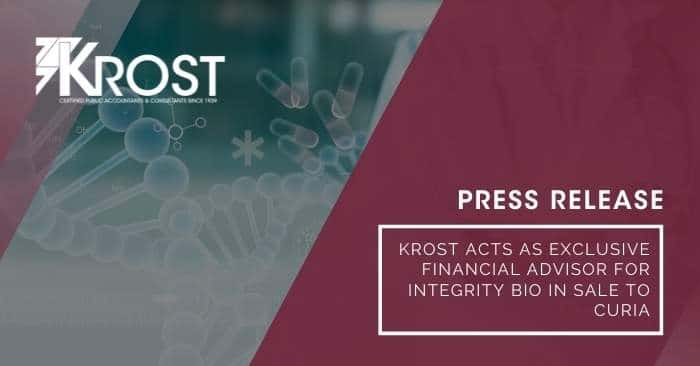 Press Release: KROST Acts as Exclusive Financial Advisor for Integrity Bio in Sale to Curia