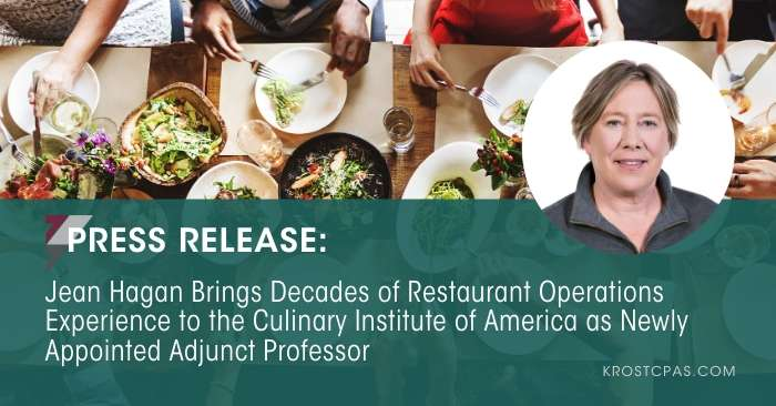 Jean Hagan Brings Decades of Restaurant Operations Experience to the Culinary Institute of America as Newly Appointed Adjunct Professor