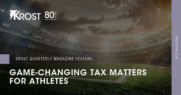 Game-Changing Tax Matters for Athletes