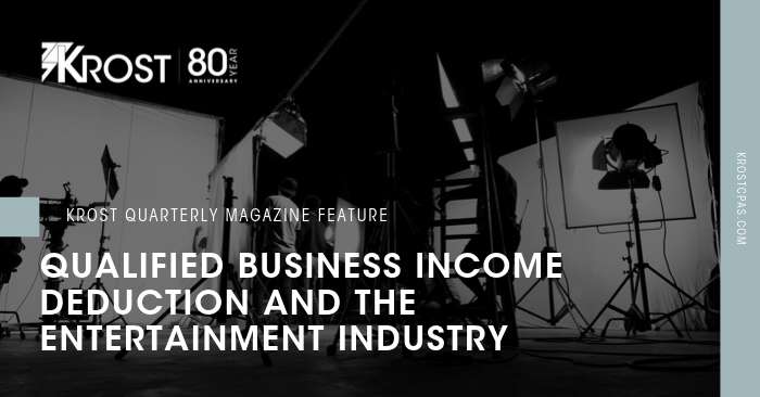 Qualified Business Income Deduction and the Entertainment Industry