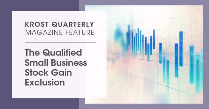 The Qualified Small Business Stock Gain Exclusion
