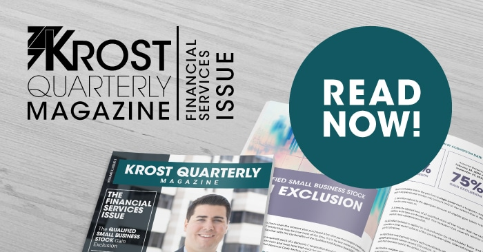 KROST Quarterly Magazine: The Financial Services Issue is Now Available!