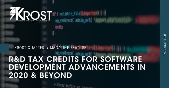 R&D Tax Credits for Software Development Advancements in 2020 & Beyond