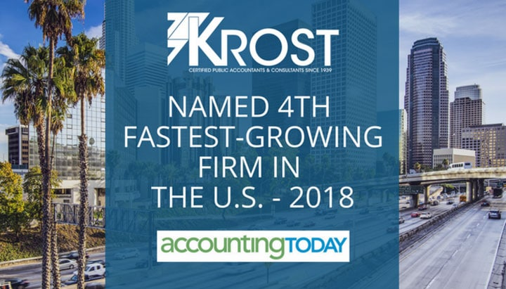 KROST Named as Fourth Fastest Growing Firms 2018
