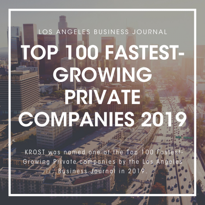 LABJ Fastest Growing Private Companies 2019