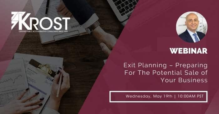 [Webinar] Exit Planning – Preparing For The Potential Sale of Your Business