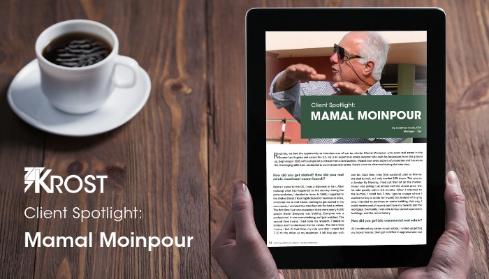 Client Spotlight: Mamal Moinpour