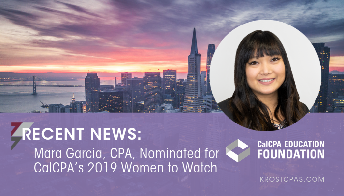 Mara Garcia, CPA, Nominated for CalCPA's 2019 Women to Watch