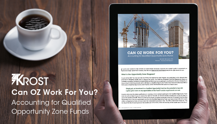 Can OZ Work for You? Accounting for Qualified Opportunity Zone Funds