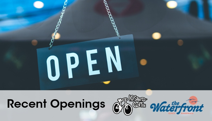Openings – The Waterfront/Boardwalk Tacos & 10 Speed Coffee