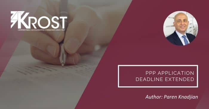 PPP Application Deadline Extended