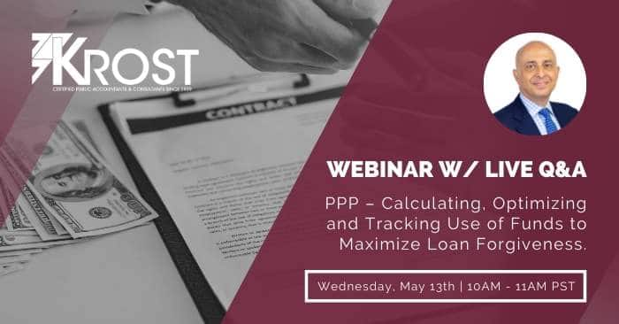 [Webinar] PPP – Calculating, Optimizing and Tracking Use of Funds to Maximize Loan Forgiveness