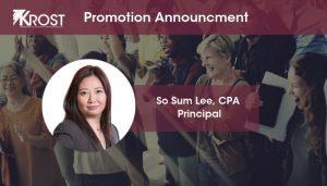 Los Angeles CPA Firm KROST Names So Sum Lee, CPA Principal