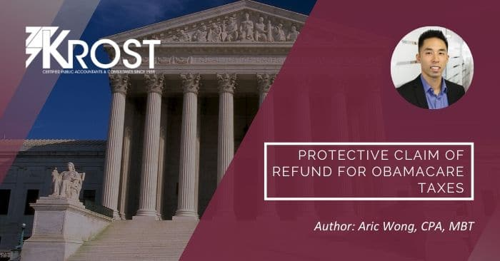 Protective Claim of Refund for Obamacare Taxes