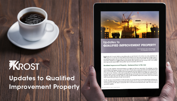 Updates to Qualified Improvement Property