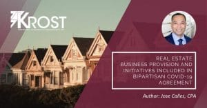 Real Estate Business Provision and Initiatives Included in Bipartisan COVID-19 Agreement | Blog