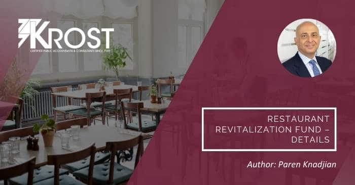 Restaurant Revitalization Fund – Details