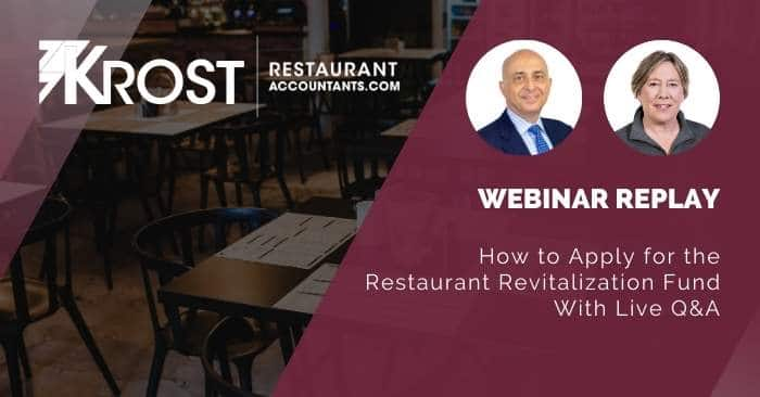 [Webinar Replay] How to Apply for the Restaurant Revitalization Fund Webinar