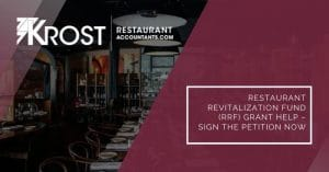 Restaurant Revitalization Fund (RRF) Grant Help – Sign the Petition Now | Blog