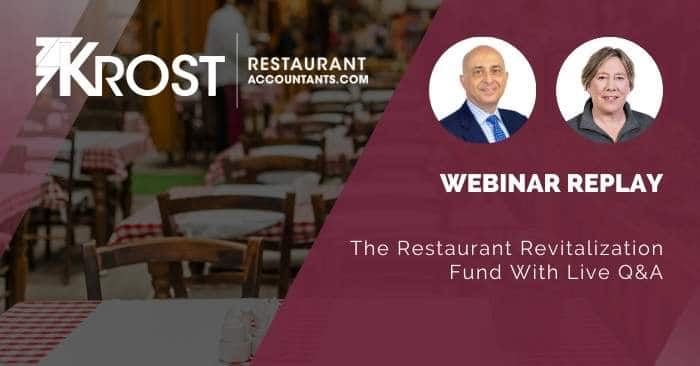 [Webinar Replay] The Restaurant Revitalization Fund