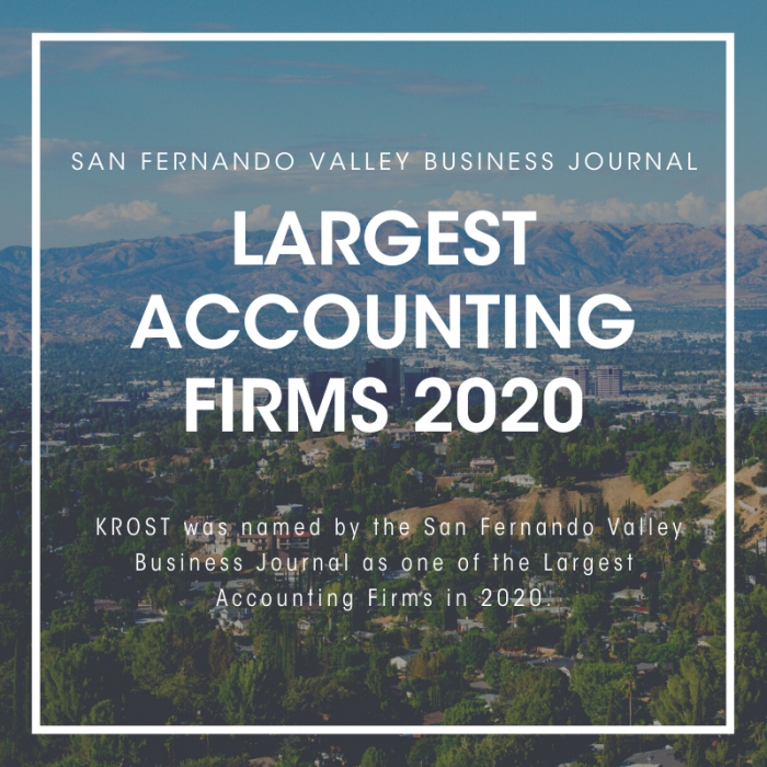 SFVBJ Largest Accounting Firms 2020